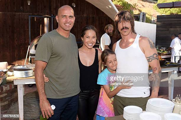 Kelly Slater Kalani Miller and Anthony Kiedis attend Kelly Slater John Moore and Friends celebrate the launch of Outerknown at Private Residence on...