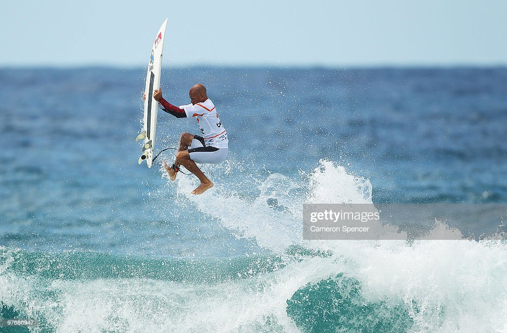 Kelly Slater of the United States performs an air during the Boost Bondi Beach SurfSho at Bondi Beach on March 14 2010 in Sydney Australia