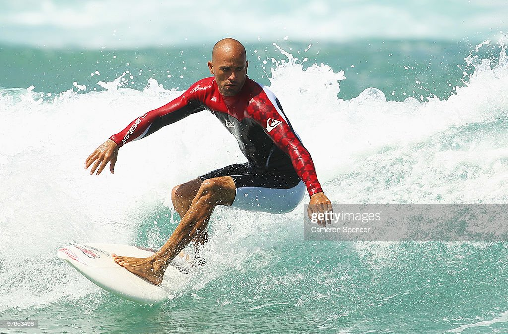 Kelly Slater of the United States rides a wave into shore during an aerial expression session on day one of Surfsho at Bondi Beach on March 12 2010...