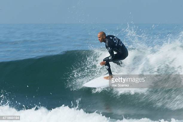 Kelly Slater of the US in action in the round of 24 during the Oakley Lower's Pro at Lower Trestles on May 1 2015 in San Clemente California