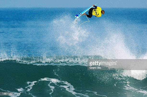 Kelly Slater of the USA in action during his victory over Paul Canning of South Africa at the Quiksilver Pro at Hossegor France on October 5 2002...