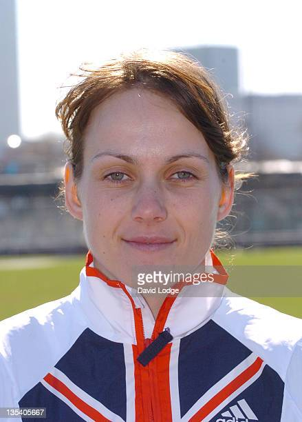 Kelly Sotherton during UK Athletics Sports Development Plan Photocall and Press Briefing April 5 2006 at Mile End Leisure Center in London