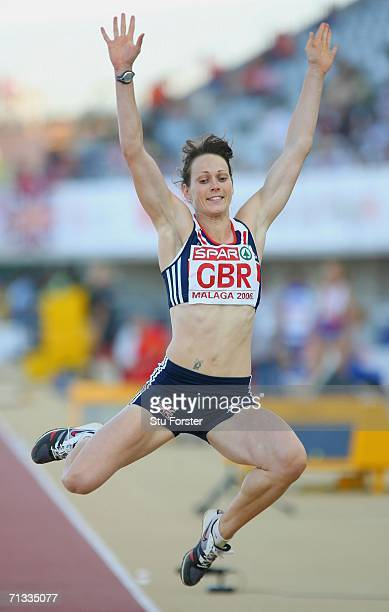 Kelly Sotherton of Great Britian in action in the Women's Long Jump during the Spar European Cup 2006 at the Ciudad de Malaga Athletics Stadium on...