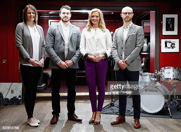 Kelly Sotherton Olympic World European Medallist Commonwealth Champion Kristian Thomas Olympic Gymnast Gabby Logan TV Presenter and Hussein Fahmy...