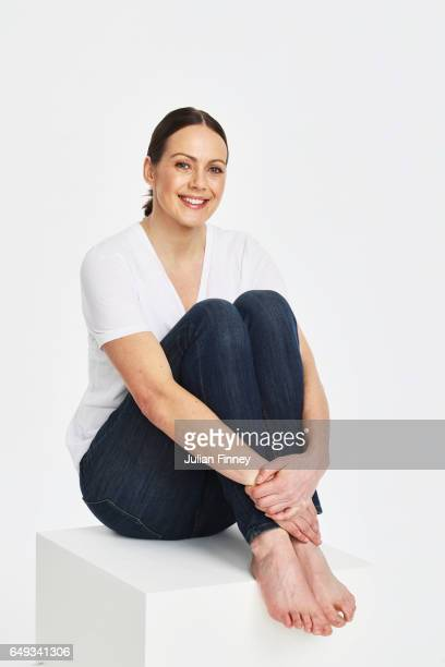 Kelly Sotherton poses at a photoshoot in London to celebrate Britains strong female Athletics heritage ahead of International Womens Day and to mark...