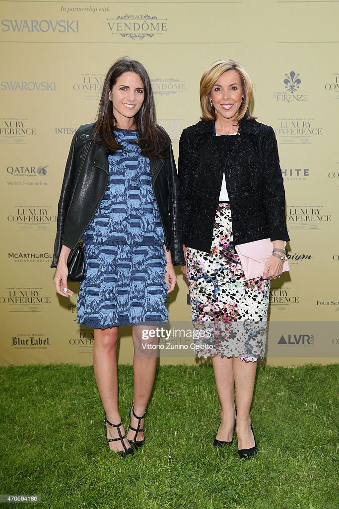 Kelly Talamas and Eva Hughes attend the Conde' Nast International Luxury Conference Welcome Reception at Four Seasons Hotel Firenze on April 21, 2015 in Florence, Italy.
