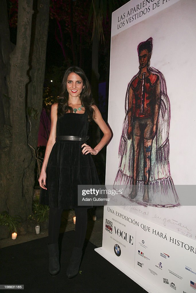 Kelly Talmas, Editor of Vogue, pose for a photo during the presentation of the exhibition Las Apariencias Engañan: The Frida Kahlo Dresses presented by Vogue magazine at Frida Kahlo´s museum on November 21, 2012 in Mexico City, Mexico.