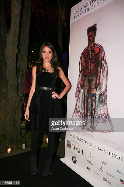 Kelly Talmas Editor of Vogue pose for a photo during the presentation of the exhibition Las Apariencias Engañan The Frida Kahlo Dresses presented by...