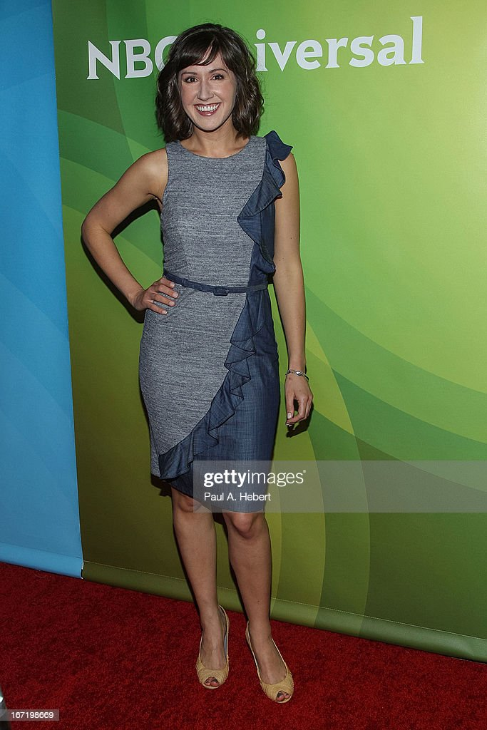 Kelly Vrooman attends the 2013 NBCUniversal Summer Press Day held at The Langham Huntington Hotel and Spa on April 22, 2013 in Pasadena, California.