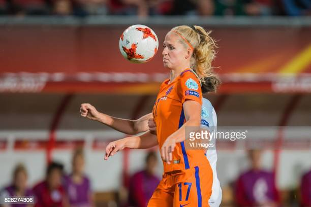 Kelly Zeeman of Holland Women Jodie Taylor of England women during the semifinal UEFA WEURO 2017 match between The Netherlands and England at the...