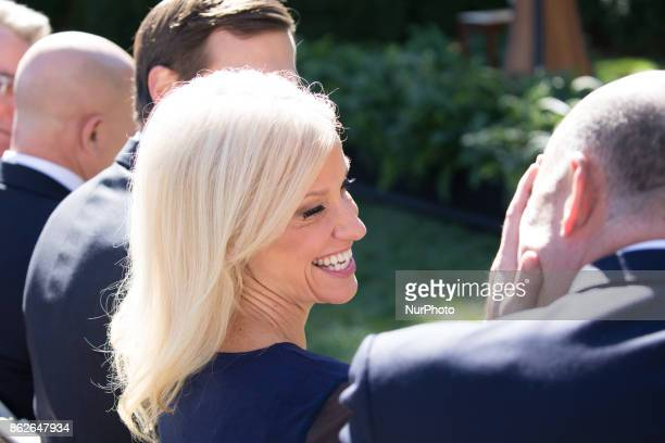 Kellyanne Conway Counselor to US President Donald Trump was in attendance for the joint press conference of US President Donald Trump and Prime...