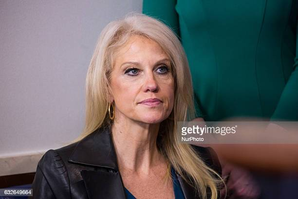 Kellyanne Conway during the daily press briefing in the James Brady Press Briefing Room at the White House January 24 2017 in Washington DC Spicer...
