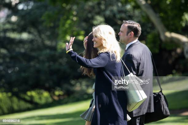 Kellyanne Conway White House counselor Hope Hicks White House Director of Strategic Communications and Dan Scavino White House Director of Social...