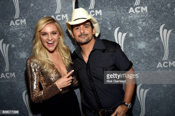 Kelsea Ballerini and Brad Paisley attend the 11th Annual ACM Honors at the Ryman Auditorium on August 23 2017 in Nashville Tennessee