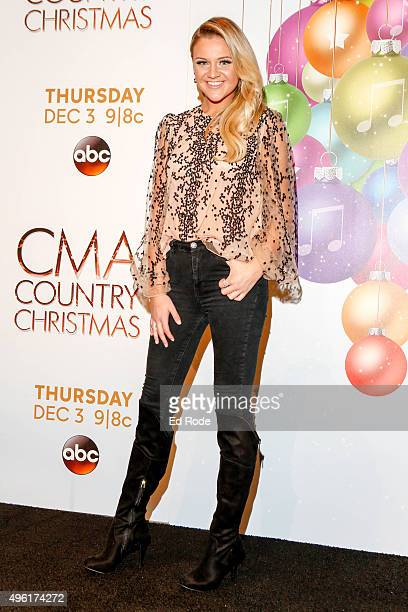 Kelsea Ballerini attends the CMA 2015 Country Christmas press room on November 7 2015 in Nashville Tennessee