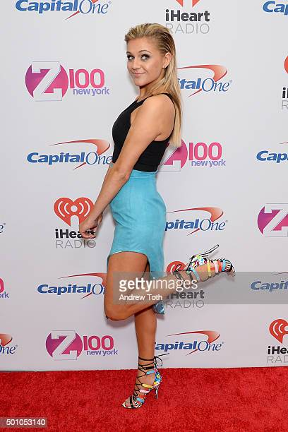 Kelsea Ballerini attends Z100's iHeartRadio Jingle Ball 2015 arrivals at Madison Square Garden on December 11 2015 in New York City