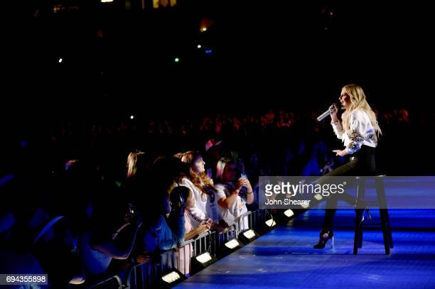 Kelsea Ballerini performs on stage for day 2 of the 2017 CMA Music Festival on June 9 2017 in Nashville Tennessee