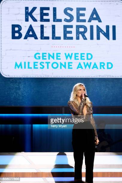 Kelsea Ballerini performs onstage during the 11th Annual ACM Honors at the Ryman Auditorium on August 23 2017 in Nashville Tennessee