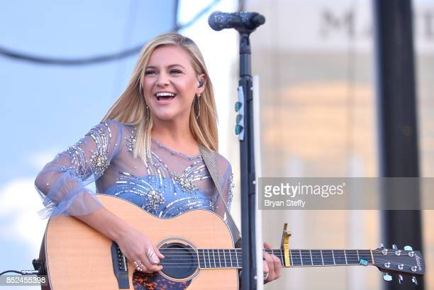 Kelsea Ballerini performs onstage during the Daytime Village Presented by Capital One at the 2017 HeartRadio Music Festival at the Las Vegas Village...