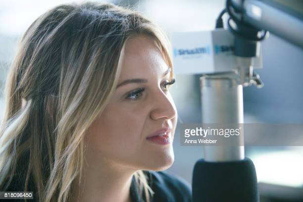 Kelsea Ballerini Visits The SiriusXM Studios In Nashville on July 18 2017 in Nashville Tennessee