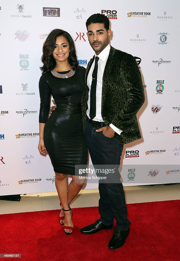 Kelsey Adams and Chavis Aaron attend the 7th Annual Music Meets Fashion Event on January 30, 2014 in New York City.