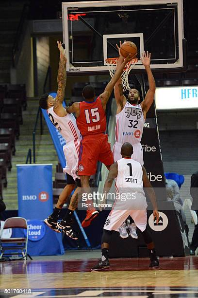 Kelsey Barlow of the Grand Rapids Drive drives to the basket during a game against the Raptors 905 at the Hershey Centre on December 16 2015 in...