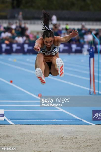 Kelsey Berryman of Team New Zealand in the long jump on night 2 of Nitro Athletics on February 9 2017 in Melbourne Australia Chris Putnam / Barcroft...