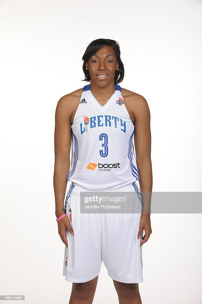 Kelsey Bone #3 of the New York Liberty poses for a photo during WNBA Media Day on May 13, 2013 at the Madison Square Garden Training Facility in Tarrytown, New York.