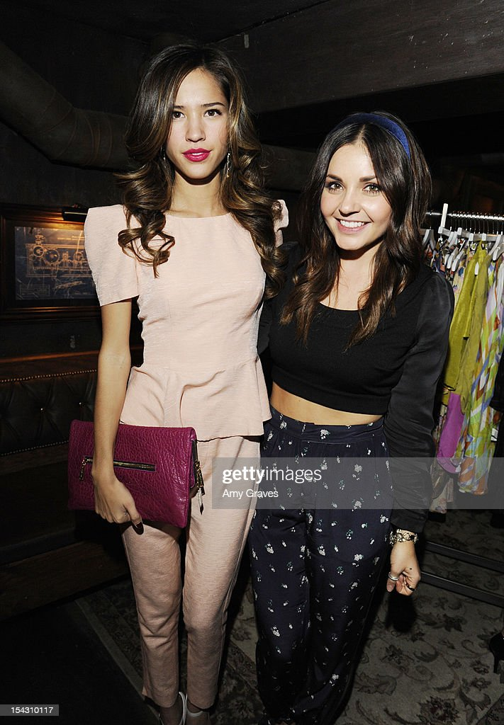 Kelsey Chow and Maria Stanley attend the Harlyn Launch Party with special acoustic performance by Jenny Lewis at Harvard And Stone on October 17, 2012 in Hollywood, California.