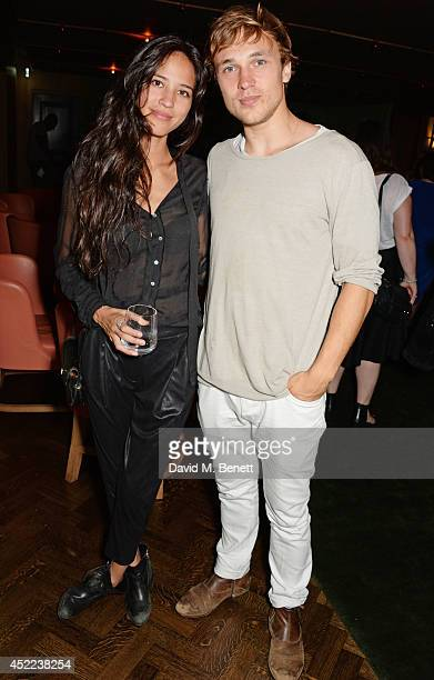 Kelsey Chow and William Moseley attend the official launch of the BLAG clothing label at The Club at Cafe Royal on July 16 2014 in London England