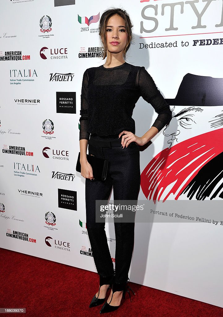 Kelsey Chow attends Cinema Italian Style 2013 'The Great Beauty' opening night premiere at the Egyptian Theatre on November 14, 2013 in Hollywood, California.