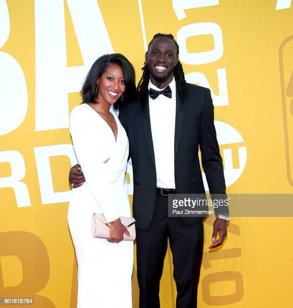 Kelsey Domiana and Maurice Ndour attend the 2017 NBA Awards at Basketball City Pier 36 South Street on June 26 2017 in New York City