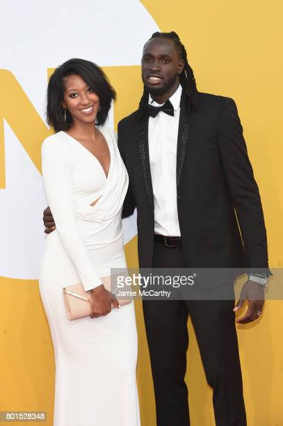 Kelsey Domiana and NBA player Maurice Ndour attends the 2017 NBA Awards live on TNT on June 26 2017 in New York New York 27111_003