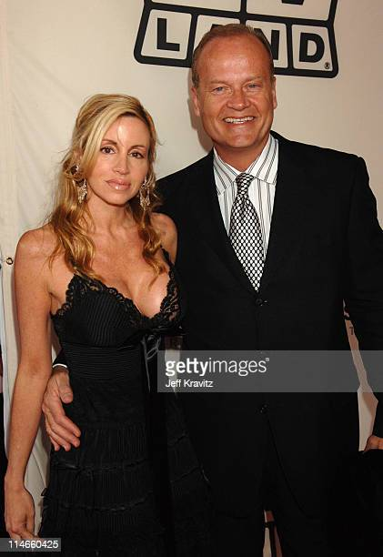 Kelsey Grammer and Camille Grammer during 2006 TV Land Awards Red Carpet at Barker Hangar in Santa Monica California United States