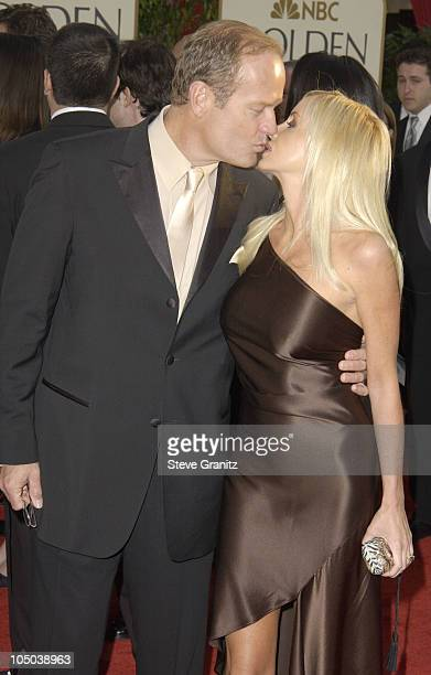 Kelsey Grammer and Camille Grammer during The 60th Annual Golden Globe Awards Arrivals at The Beverly Hilton Hotel in Beverly Hills California United...