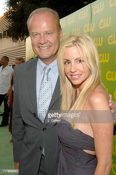 Kelsey Grammer and Camille Grammer during The CW Launch Party Green Carpet at WB Main Lot in Burbank California United States