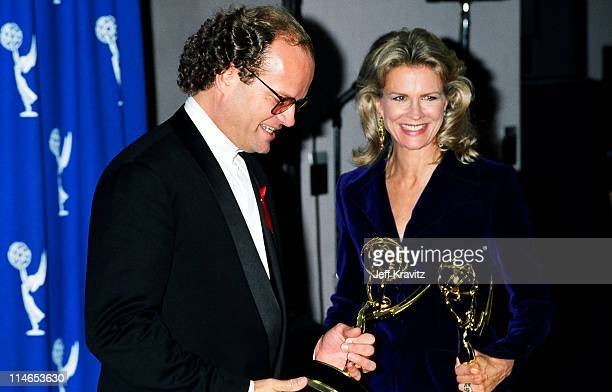Kelsey Grammer and Candice Bergen during 1993 Emmy Awards Press Room in Los Angeles CA United States