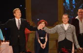 Kelsey Grammer and Douglas Hodge perform with the cast of La Cage aux Folles onstage during the 64th Annual Tony Awards at Radio City Music Hall on...