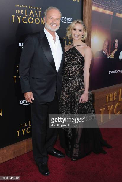 Kelsey Grammer and Greer Grammer arrive at the Premiere Of Amazon Studios' 'The Last Tycoon' at the Harmony Gold Preview House and Theater on July 27...