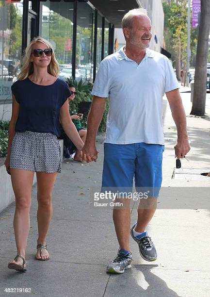Kelsey Grammer and Kayte Walsh are seen on August 06 2015 in Los Angeles California