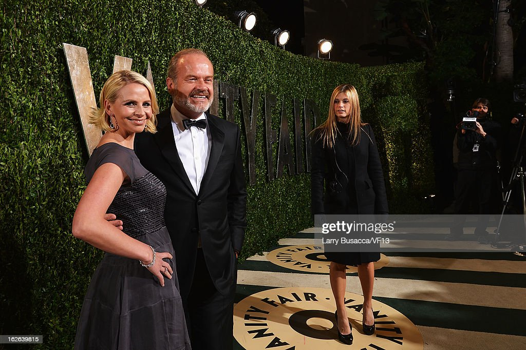 Kelsey Grammer and Kayte Walsh arrive for the 2013 Vanity Fair Oscar Party hosted by Graydon Carter at Sunset Tower on February 24, 2013 in West Hollywood, California.