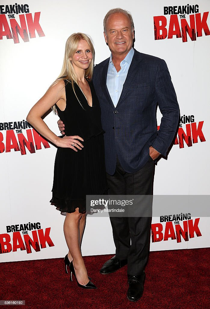 <a gi-track='captionPersonalityLinkClicked' href=/galleries/search?phrase=Kelsey+Grammer&family=editorial&specificpeople=210500 ng-click='$event.stopPropagation()'>Kelsey Grammer</a> (R) and <a gi-track='captionPersonalityLinkClicked' href=/galleries/search?phrase=Kayte+Walsh&family=editorial&specificpeople=7285479 ng-click='$event.stopPropagation()'>Kayte Walsh</a> arrive for the UK gala screening of 'Breaking The Bank' at The Empire Cinema on May 31, 2016 in London, England.