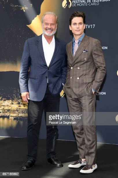 Kelsey Grammer and Matthew Bomerfrom 'The Last Tycoon' attend a photocall during the 57th Monte Carlo TV Festival Day 3 on June 18 2017 in MonteCarlo...