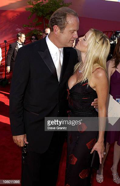 Kelsey Grammer and wife Camille during The 54th Annual Primetime Emmy Awards Arrivals at The Shrine Auditorium in Los Angeles California United States