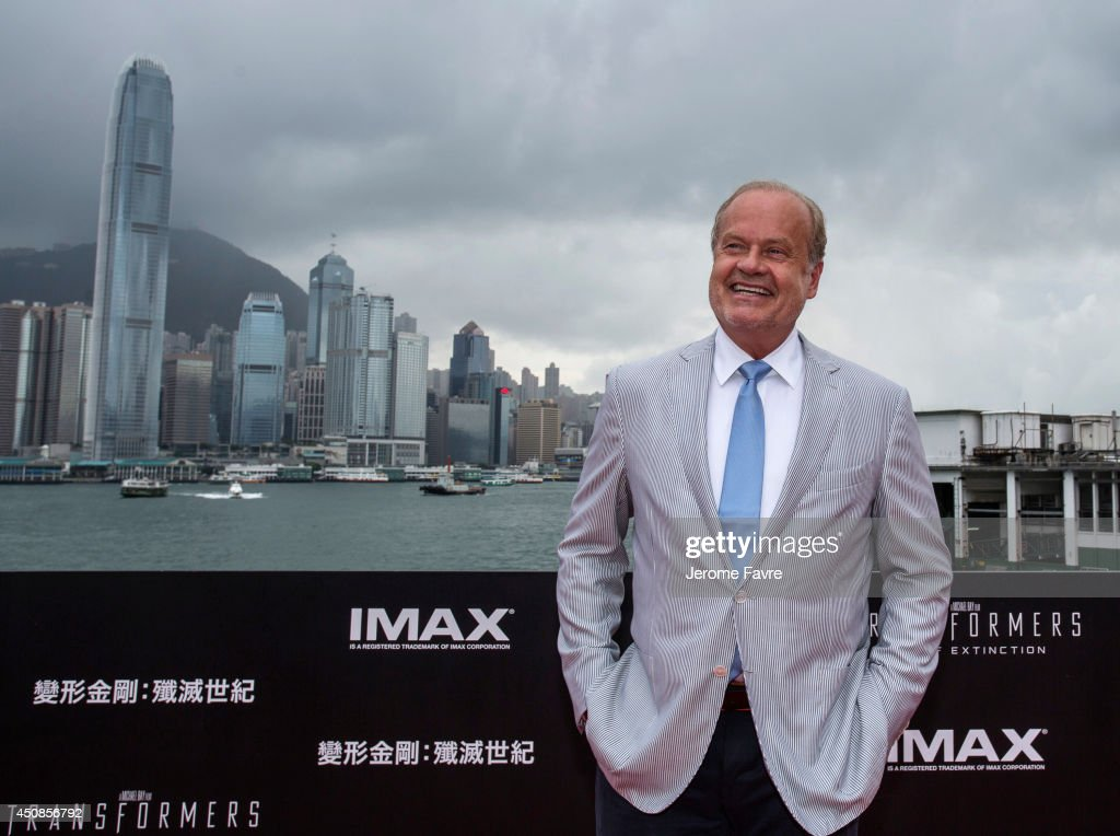 <a gi-track='captionPersonalityLinkClicked' href=/galleries/search?phrase=Kelsey+Grammer&family=editorial&specificpeople=210500 ng-click='$event.stopPropagation()'>Kelsey Grammer</a> arrives at the worldwide premiere screening of 'Transformers: Age of Extinction'at the on June 19, 2014 in Hong Kong.