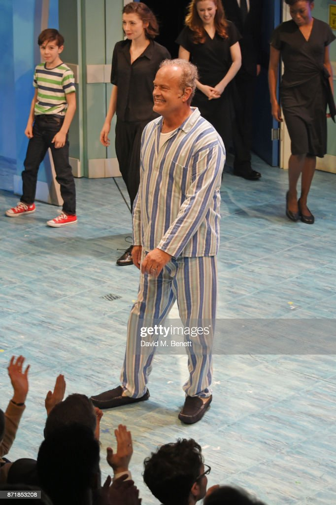 Kelsey Grammer bows at the curtain call during the press night performance of 'Big Fish: The Musical' at The Other Palace on November 8, 2017 in London, England.