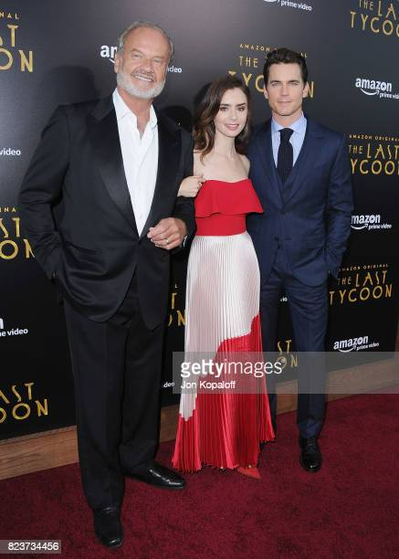 Kelsey Grammer Lily Collins and Matt Bomer arrive at the Premiere Of Amazon Studios' 'The Last Tycoon' at the Harmony Gold Preview House and Theater...