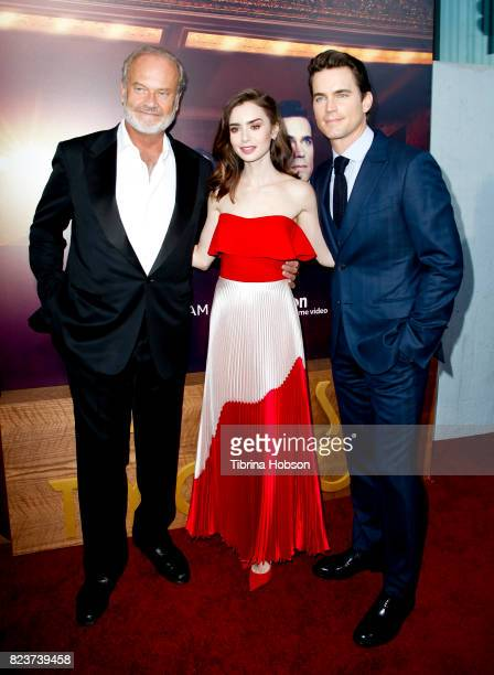 Kelsey Grammer Lily Collins and Matt Bomer attend the premiere of Amazon Studios 'The Last Tycoon' at the Harmony Gold Preview House and Theater on...