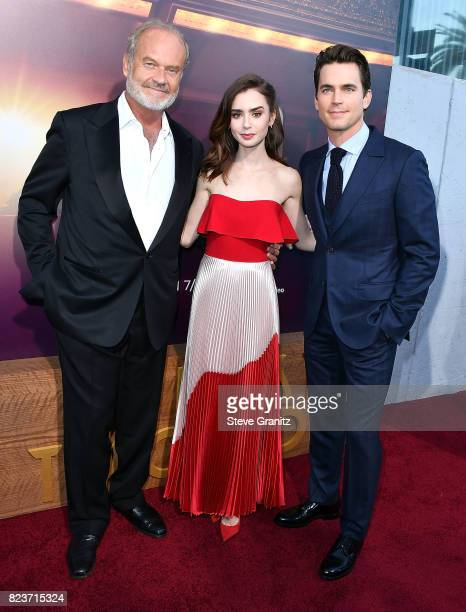 Kelsey Grammer Lily CollinsMatt Bomer arrives at the Premiere Of Amazon Studios' 'The Last Tycoon' at the Harmony Gold Preview House and Theater on...