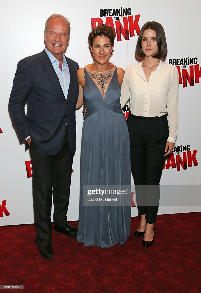 <a gi-track='captionPersonalityLinkClicked' href=/galleries/search?phrase=Kelsey+Grammer&family=editorial&specificpeople=210500 ng-click='$event.stopPropagation()'>Kelsey Grammer</a>, <a gi-track='captionPersonalityLinkClicked' href=/galleries/search?phrase=Tamsin+Greig&family=editorial&specificpeople=814015 ng-click='$event.stopPropagation()'>Tamsin Greig</a> and Sonya Cassidy attends the UK gala screening of 'Breaking The Bank' at Empire Leicester Square on May 31, 2016 in London, England.